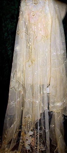 Vintage Tambour Lace~❥