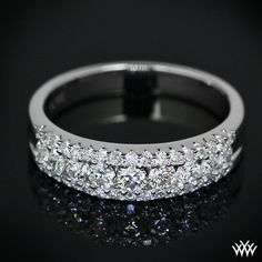 Stairway to Love Wedding Ring featuring .50ctw A CUT ABOVE Diamond Melee #whiteflash #Verragio