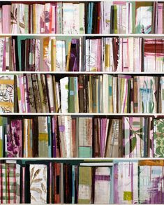Paintings of books by Stanford Kay. I absolutely love these. I would like to hang a couple in our library.