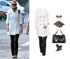 YES. More white trench with black accessories.