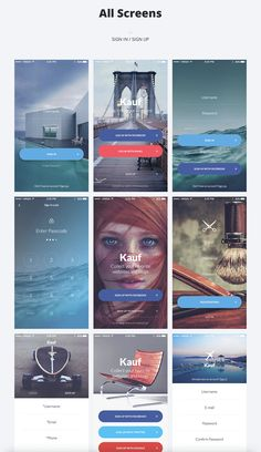 Buy Kauf iOS UI Kit - Template for Sketch by yebocreative on ThemeForest. Kauf iOS UI Kit is the first interaction ready, high quality premium pack of 67 handcrafted stress-free screens, mea. App Ui Design, Application Ui Design, Iphone App Design, Mobile Ui Design, User Interface Design, Layout Design, Log In Ui, Ecommerce, Conception D'applications