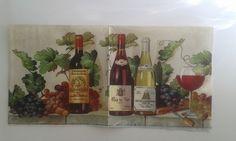 Guardanapos para Decoupagem e Artesanato  Vinhos  * GUARDANAPO INTEIRO *  Tamanho 33 x 33 cm    Despachamos via carta registrada até 300 gramas R$ 2,40