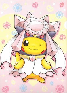 pikachu-mega diancie
