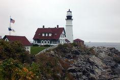 Light House near Bar Harbor, Maine