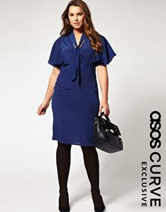 ASOS Curve: exclusive pencil dress with fluted sleeves