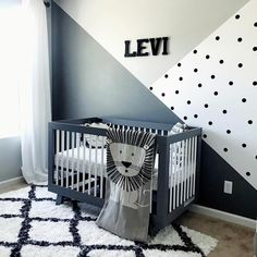 "Nurseries For Making Memories on Instagram: ""Today it's a pleasure to share this beautiful monochrome nursery put together by Amelia for cute little Levi! @leviray22. 🖤 Amelia has such…"""