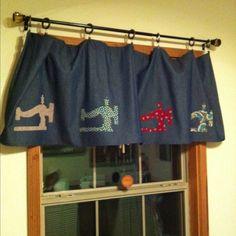 craft room curtain.