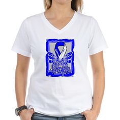 ALS Awareness Disease Hope Butterfly shirts, apparel and gifts featuring a stunning butterfly design with an awareness ribbon
