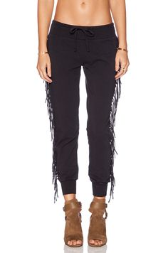 AMUSE SOCIETY Asher Fleece Pant in Charcoal revolveclothing.com