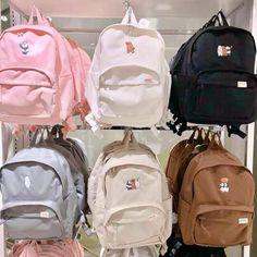 We bear bears backpacks 😍 . Trendy Backpacks, School Backpacks, My Bags, Purses And Bags, Aesthetic Backpack, Mode Kawaii, Vetement Fashion, Cute School Supplies, Pullover Hoodie