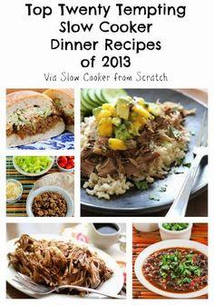 Top Twenty Tempting Slow Cooker Dinner Recipes of 2013