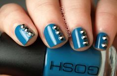 Studded Jeans Nails beauty-full