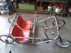 Klicke auf dieses Bild, um es in vollständiger Größe anzuzeigen. 4 Wheel Bicycle, Mobiles, Bike Cart, Velo Design, Recumbent Bicycle, Cargo Bike, Fat Bike, Pedal Cars, Go Kart