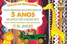Convite Mundo Bita Safari