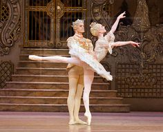 Sarah Lamb as the Sugarplum Fairy with Thiago Soares as her Prince in Act 2 of the Royal Ballet's Nutcracker.