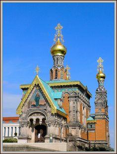 Mathildenhöhe Darmstadt - the Russian Chapel ~ Germany
