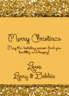 Christmas card in with gold glitter appearance by OldOwlPress