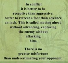 In Conflict – Tao Te Ching