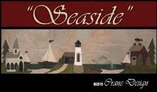 """Seaside Wool Applique Wallhanging 11.5"""" by 37"""""""