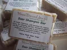 Each Beer Shampoo bar is packed with hemp seed oil and wheat germ oil , both known to help restore hair cells damaged by heat and harsh chemicals... also included in the bars are coconut , olive and palm kernel oils to produce a well balanced, creamy & indulgent shampoo bar. I have also added organic wildflower local honey for added silkiness , & lather... and also seaweed powder is added for nutrients and glide...