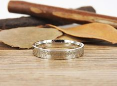 Handmade Dome shape Custom Your words in Elvish Tengwar, Lord of the Rings, Wedding Bands, Couple Ring, Titanium Ring Anniversary Ring - jringstudio Coordinate Rings, Personalized Rings, Titanium Rings, Couple Rings, Anniversary Rings, Wedding Ring Bands, Jewelry Stores, Gold, Engagement Rings