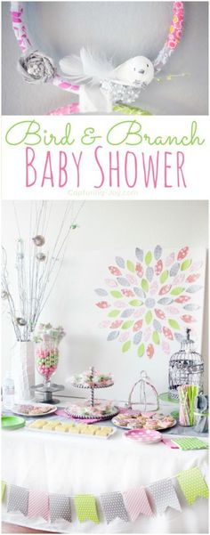 Pink and green baby shower ideas for baby girls! From decor to food to favors we've got you covered!