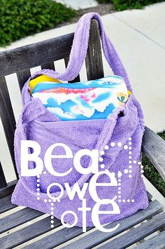 beach towel tote would be even nice with a applique of a sand bucket.