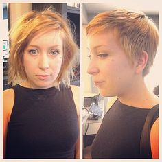 Liberated salon - Los Angeles, CA, United States. pixie transformation by Brandon!
