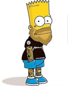 Bart w/beard and tats Simpsons Tattoo, Simpsons Art, Bart Simpson, Arte Dope, Dope Art, Sketch Manga, Beard Art, Graffiti Art, Cartoon Characters