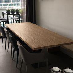 Eetkamertafel berken multiplex stalen voet #design #opmaatgemaakt #tafel #tafels #hout #staal #handgemaakt