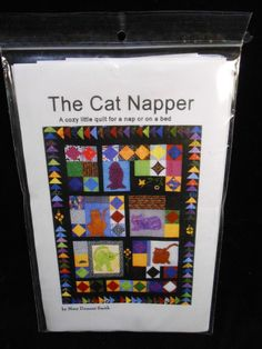 The Cat Napper Quilt Pattern Twin size 60X 80 inches The Quiltsmith #TheQuiltsmith