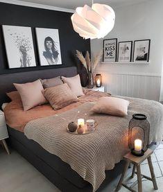 Schlafzimmer Inspiration // Kristin Gronas - Home & Decor Inspiration Room Ideas Bedroom, Dream Bedroom, Home Decor Bedroom, Fall Bedroom, Couple Bedroom Decor, Magical Bedroom, Couple Room, Bedroom Kids, Bed Room