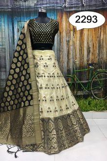 Lehenga Choli | Lehenga | Lehenga Design | Lehenga Online at Joshindia.com Banarasi Lehenga, Silk Dupatta, Black Lehenga, Lehenga Choli Online, Lehenga Designs, Embellished Sandals, Cotton Blouses, Indian Wear, Blouse Designs