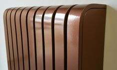 Copper coated radiator cover: industrial by cool radiators? it's covered! Designer Radiator, Radiator Cover, Wooden Flooring, Real Wood, Entryway Decor, Home Projects, Copper, Brass, Bronze