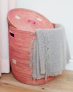 Woven Hamper – watermelon pink