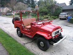 Destin's 1964 Toyota Land Cruiser after restoration New Toyota Land Cruiser, Toyota Fj40, 4x4 Off Road, Jeep Parts, Expedition Vehicle, Restoration, Monster Trucks, Range Rovers, Jeeps