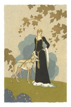 Princess with Whippets Premium Poster