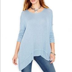 NWOT free people asymmetrical open back hacci top Pullover style open back with a twisted fabric detail ... Oversize fit... Asymmetrical hem... Free People Tops