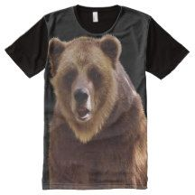 Grizzly Bear Wilderness Wildlife Art All-Over Print Shirt