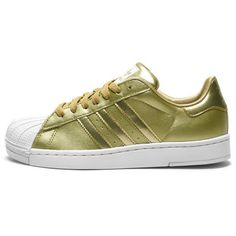 ADIDAS SUPERSTAR 2 BLING KIDS GOLD found on Polyvore