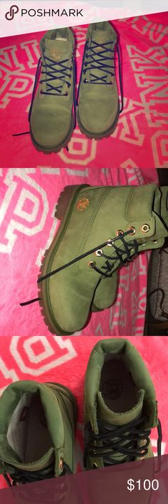 Timberland for the new year in festive green!!! BRAND NEW Timberland Shoes Lace Up Boots