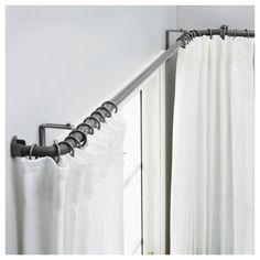 HUGAD Gardinstångskomb f burspråksfönster - IKEA