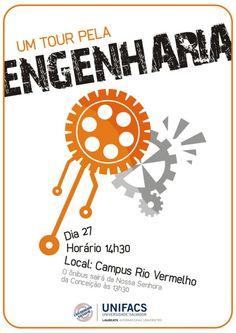cartaz divulgação da área de engenharia para escolas