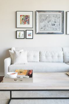 Colby Burlingame's Atlanta Apartment Tour #theeverygirl // white sectional