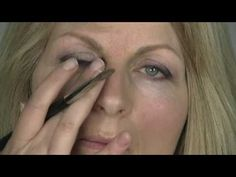"""Makeup tutorial for mature women    I like this because the model is an actual """"real"""" looking woman, and not the fashion model girls they usually use in this kind of thing."""