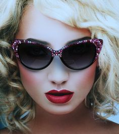 783e6be90be6 Embellished Cat Style Sunglasses