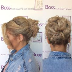 Lovely hair up by our stylist Nikki this morning #hairup #hairgoals #messybun #bankholiday #wella #curls #wella #ghd