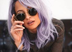 Nicole Richie Debuts New Icy Blue Hair   Marie Claire