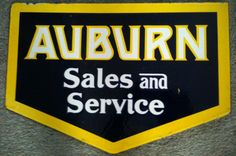 Die-Cut sign for Auburn Sales & Service.