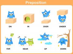 Inforgraphic on Prepositions of Location English For Students, Teach English To Kids, Teaching English, Learn English, Free Kindergarten Worksheets, Phonics Worksheets, Preschool Learning Activities, Classroom Activities, Preposition Activities